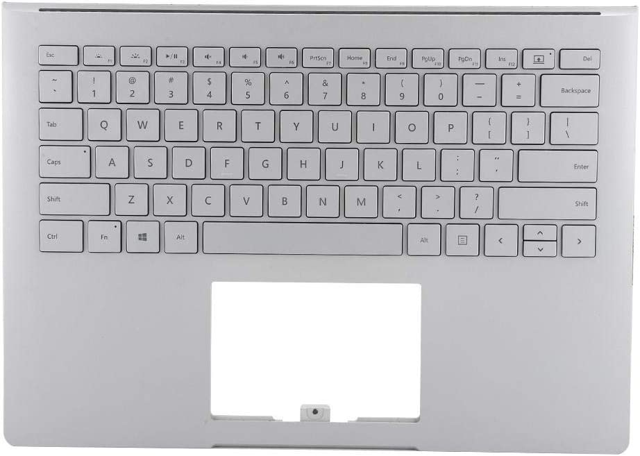 Wendry Replacement Keyboard, for Microsoft Surface Book 1st 1703 1704 1705 1706 Keyboard Case Replacement Silver