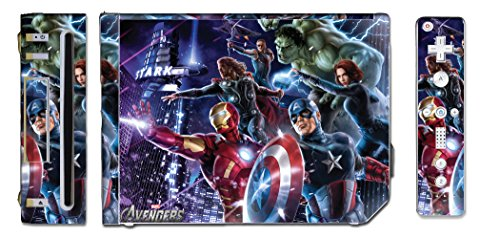 Wii Skin Vinyl - Avengers Captain America Thor Hulk Iron Man Video Game Vinyl Decal Skin Sticker Cover for the Nintendo Wii System Console