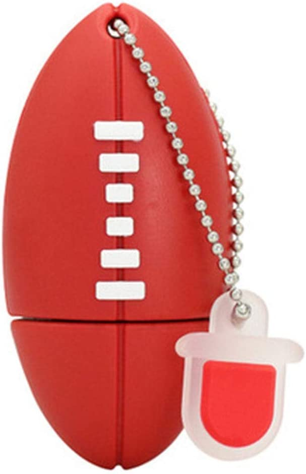 Size : 128G Computers Accessories Creative Rugby Memory Stick USB2.0 4G//8G//16GB//32G//64G//128G Portable Hanging Chain Thumb Drive Data Storage 10-11