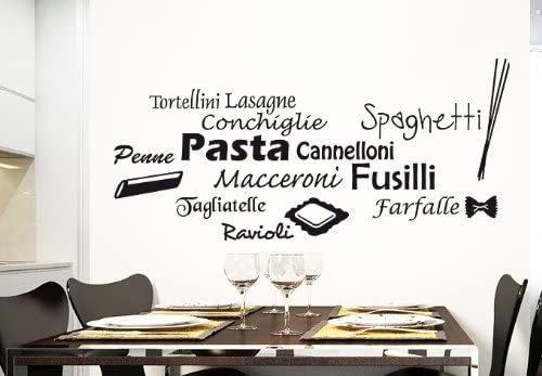 Wall Vinyl Sticker Kitchen Decal Words Sign Quote Pasta Pizza Z988