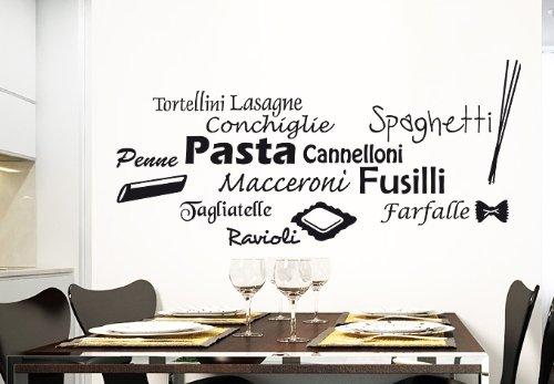 STICKERSFORLIFE Wall Vinyl Sticker Decals Decor Art Kitchen Design Mural Words Sign Quote Pasta Pizza (Z988)