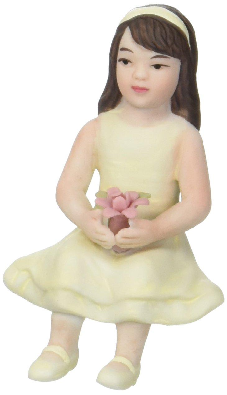 Toddler Girl Porcelain Figurine Wedding Cake Topper