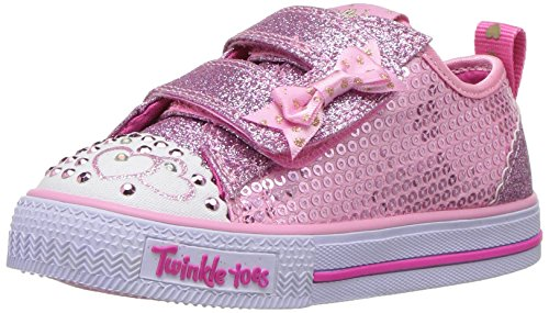 Skechers Kids Girls' Shuffles-Itsy Bitsy Sneaker, Pink, 8 M US Toddler