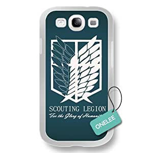 Attack On Titan White PC Samsung Galaxy S3 Case & Cover - White 2