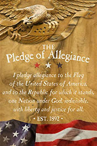 Ky & Co East Urban Home Box Top Art 'The Pledge of Allegiance' Textual Art on Wood from Ky & Co