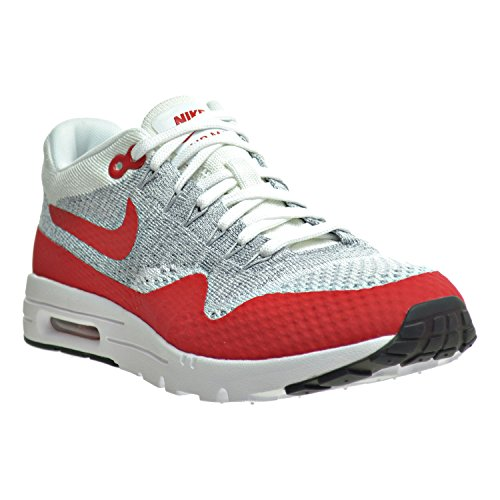 NIKE Air Max 1 Ultra Flyknit Women's Running Shoes White/University Red/Pure Platinum free shipping countdown package discount 2015 PQ8ydhvHM