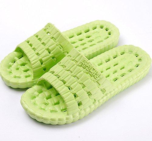 Pieds des D'été Femme Sandales Bevalsa De Douche Chaussons Bain Vert Intérieur Unisexe antidérapant Massage Chaussons Chaussures d'été Pantoufles Sandales Hommes Plats vpPtTpUw