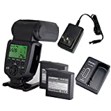 YONGNUO YN860Li Speedlite Kit + 2 PCS Lithum Battery Wireless Flash GN60 2.4G Wireless Radio Master+ Slave for Canon Nikon Pentax Olympus.