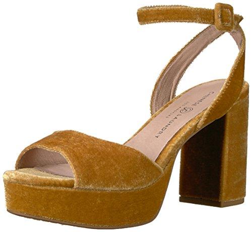 Chinese Laundry Women's Theresa Heeled Sandal, Golden Yellow Velvet, 7 M US