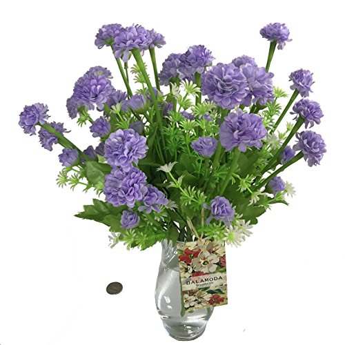 ers( 5 bouquets ) 5 stems Artificial Shrubs Faux Plastic Bushes Fake Faux Persian buttercup, Dahlia,Simulation Greenery Plants Indoor Outside Home Garden Décor-(DM05001-Lavender) ()