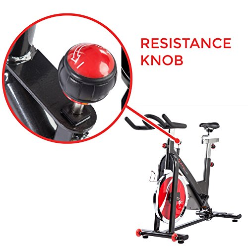 Sunny Health & Fitness Belt Drive Indoor Cycling Bike, Grey by Sunny Health & Fitness (Image #6)