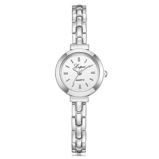 Relojes de Mujer Blanco 2018 Reloj de Pulsera de Cuarzo de Acero Inoxidable por ESAILQ