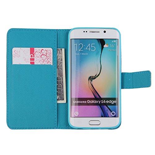 Funda para Galaxy S4 Mini, Galaxy S4 Mini Funda de PU cuero resistente, Galaxy S4 Mini Ultra Slim PU Cuero Folding Stand Flip Funda Carcasa Caso,Galaxy S4 Mini Leather Case Wallet Protector Card Holde hada del agua