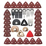 Baban 37Pcs Saw Blade Set, Oscillating Accessory Kit for Sanding, Grinding and Cutting