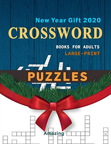 New Year Gift 2020 Crossword Books For Adults  Large Print Puzzles Amazing Easy Book For Adults And Senior