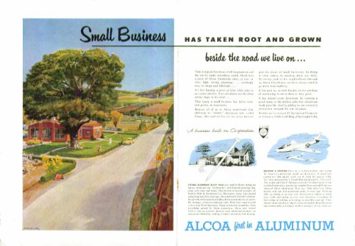 small-business-has-taken-root-grown-alcoa-aluminum-ad-1951-peter-helck-art