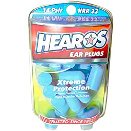 Hearos Ear Plugs Xtreme Protection Series 14 pairs ( Pack of 4 )