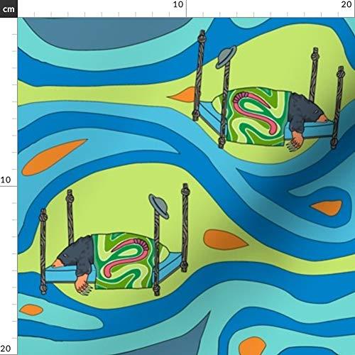 Diseño de topo, caracoles, abeto, tejidos de jardín - Estampado ...