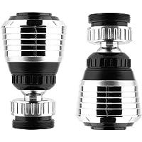 Valschen 2 piezas Aireador de grifo rotativo filtro