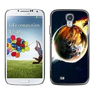 Paccase / SLIM PC / Aliminium Casa Carcasa Funda Case Cover para - Popular Doomsday End World Art Earth Flames Apocalypse - Samsung Galaxy S4 I9500