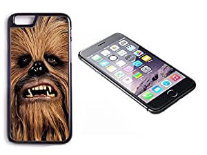 iPhone 6 Black Plastic Hard Case with High Gloss Printed Insert Star Wars Chewbacca