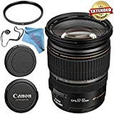 Canon EF-S 17-55mm f/2.8 IS USM Lens 1242B002 + 77mm UV Filter + Fibercloth + Lens Capkeeper Bundle