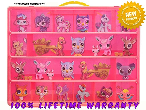 Life Made Better Toy Storage Organizer Compatible with Littlest Pet Shop Figures (Fits Up to 30 Pets)