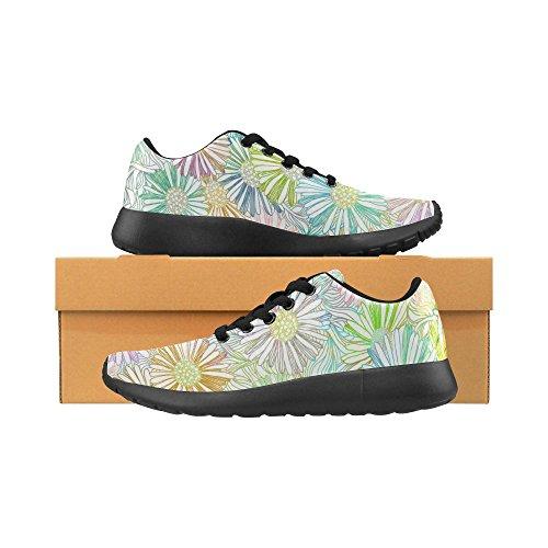 Interestprint Femmes Chaussures De Course Jogging Sport Léger Marche Athlétisme Baskets Fleurs