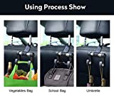 HOOKPLUS Car-Headrest-Hook,Car Organizer 2 Packs