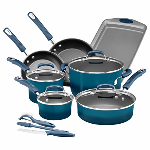 Rachael Ray 14pc hard enamel nonstick Cookware set