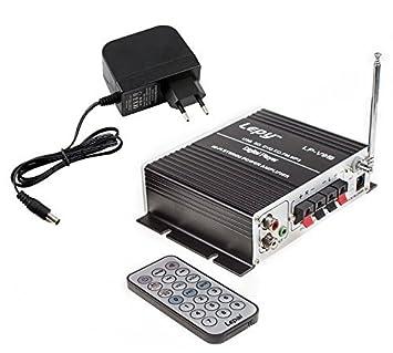 Lepy LP-V9S Amplificador digital de potencia estéreo Hi-Fi con USB SD DVD