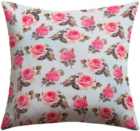 Deny Designs Allyson Johnson Pink Roses Outdoor Throw Pillow