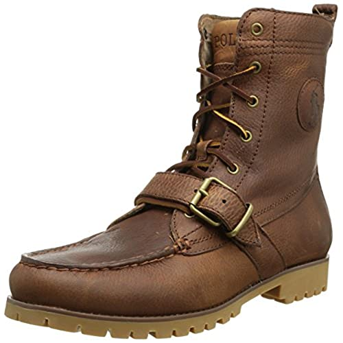 42d7c02c6969 lovely Polo Ralph Lauren 812515599002  Demond Casual Men s Padded Leather  Wheat Boots