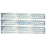 Eztronics Corp® 10 pcs Flexible Flat Cable FFC FPC 0.5mm Pitch Type A Ribbon Cables AWM 20624 80C 60V VW-1 (8 Pins 0.5mm Pitch 150mm)