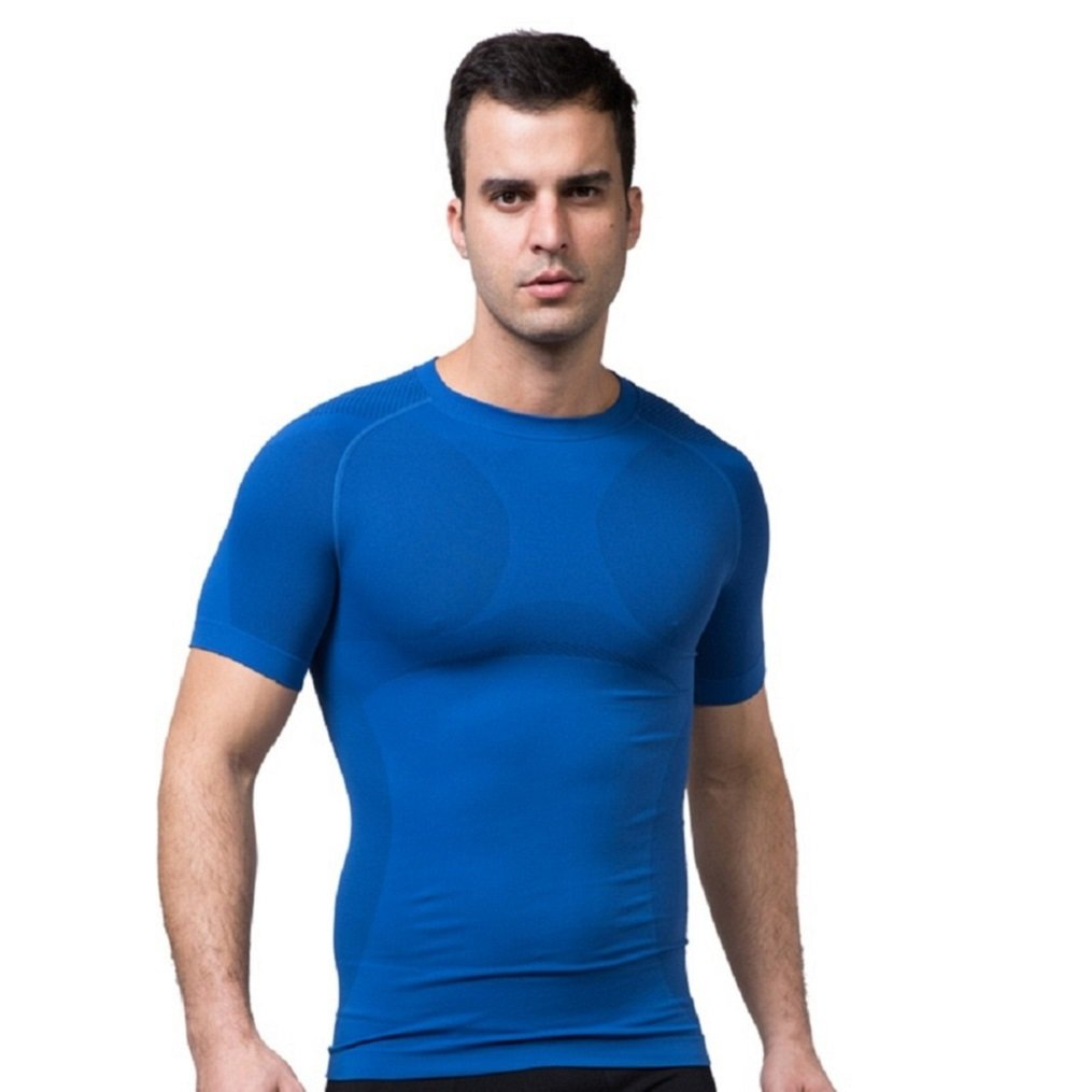CHENXI 2017 Mens Hot Summer Short Sleeve Solid Color Quick Drying Round Neck Outdoor Sports Fitness Clothing