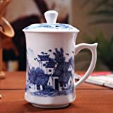 Top Grade Large China Tea Mug/ Coffee/ Drinking Mug/ Cup (500ml /Jiangnan Landscape-2)