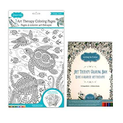 Art Therapy Coloring Book Under The Sea And Ocean Tranquility Pages For Adults Living In