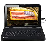 Sanoxy 9.7 inch Vegan PU Leather Tablet Case/Cover Stand with USB Keyboard for  Android Tablet PC, Black 9.7 Inch (SANOXY_USB-9.7KYB-BK)