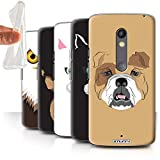 STUFF4 Gel TPU Phone Case / Cover for Motorola Moto X Play 2015 / Multipack / Animal Faces Collection