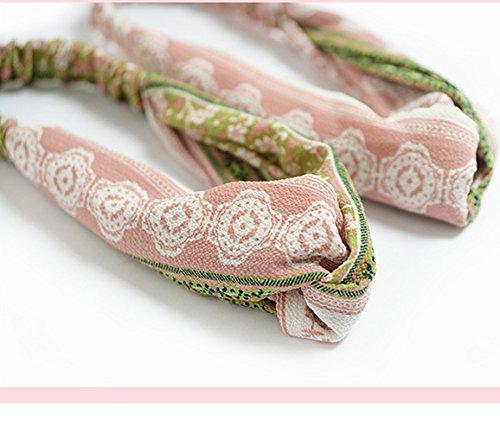 Noir Doitsa Bandeau en Tissu Headband Bandeau pour Maquillage Bande de Cheveux Sports ou Loisirs Bandeaux Bandeaux N/œuds Accessoires pour Maquillage pour Filles Femmes Motif de Fleurs