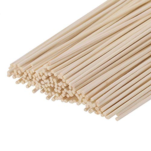 (HOSSIAN Set of 100 Reed Diffuser Sticks - Wood Rattan-Reed Sticks -Diffuser Glass Bottles-Diffuser Refills- Spa-Aromatherapy(7''17cm))