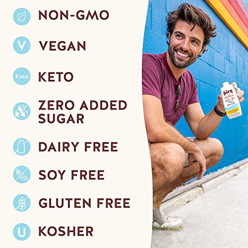 Pirq, Vegan Protein Shake, Turmeric Curcumin, Maca, Plant-Based Protein Drink, Gluten-Free, Dairy-Free, Soy-Free, Non-GMO, Vegetarian, Kosher, Keto, Low Carb, Low Calorie (Golden Vanilla, 12 Pack) 4