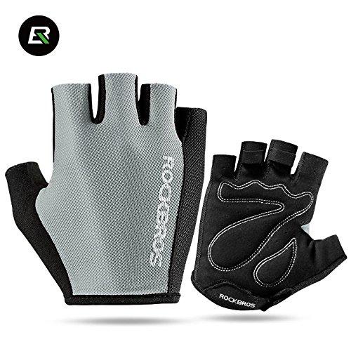 哀れなパキスタン哲学的ROCKBROS(ロックブロス) グローブ 手袋 ハーフフィンガー サイクル スポーツ グレー S099GR-XL XL