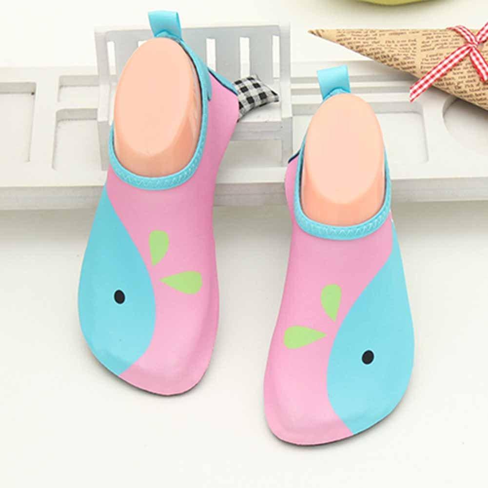 16.6cm GudeHome Lovely Kids Cartoon Barefoot Water Skin Shoes Aqua Socks Swimming Diving Beach Yoga Shoes