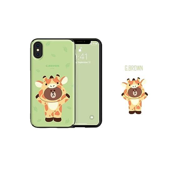 Line Friends Guardup Phone Case Jungle Friends For Iphone 6 6s 6 7 7 8 8+x 6s