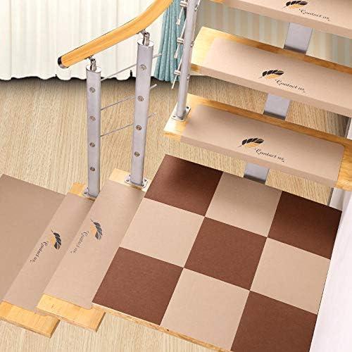 LCJTTBD Alfombra de Escalera Rectangular se Puede Lavar (Juego de 10) 55 * 21 * 4 Verde (01) Antideslizantes para alfombras de Escalera alfombras de escaleras: Amazon.es: Hogar