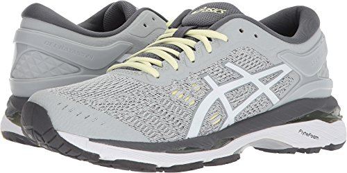 Asics Womens Gel-Kayano 24 Glacier Grey/White/Carbon Running Shoe - 7.5