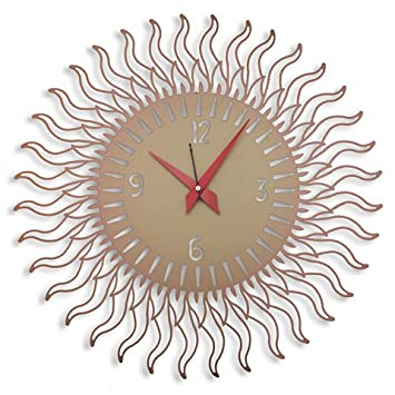 Designer Wall Clock Online India Laser Venue Sun Shaped Modern Buy