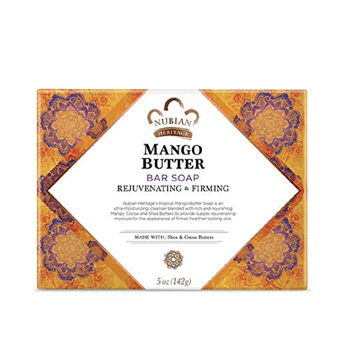 Nubian Heritage Mango Butter Soap Bar, 5 Ounces (6 Packs)