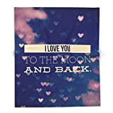 Society6 I Love You To The Moon And Back 88'' x 104'' Blanket